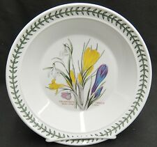 "Portmeirion Botanic Garden 8.5"" Rim Soup Bowl Snow Drop Crocus  Butterflies"