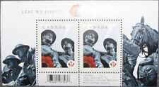 #2341a CANADA MNH Souvenir Sheet of 2: Lest We Forget (Remembrance Day)