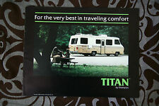 CHAMPION TITAN Motorhomes Camper 1982 brochure sales catalog - English