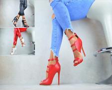 NEU Designer Luxus Sandaletten Damenschuhe Peep-Toes High Heels Party Pumps