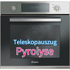 Candy PYROLYSE Einbau Backofen XL mit Selbstreinigung Edelstahl + Teleskopauszug