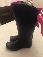 Lemon Collection New Rubber Rain Boots Womens Navy Size 8