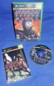 Xbox Original; Ninja Gaiden Black, Disc LN, w/ Manual, Rated M, Free Shipping