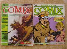 Comix Internacional, no. 41 y 54, Ilustración +, Toutain Editor, 1984 y 1985
