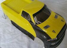 1/10 RC Voiture 190 mm on road Drift Truck Body Shell Jaune/Noir