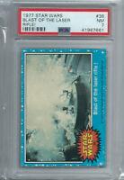 Star Wars - Series 1 (Blue) Trading Card # 36 - Topps 1977 - PSA Graded - NM 7