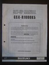 SUZUKI GSX-R1000K5 Set Up Manual GSX R1000 K5 Set-Up 99505-01185-01E Motorcycle