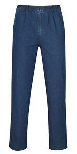 Herren Jeans Stretch Schlupfhose Schlupfjeans ohne Cargo-Taschen