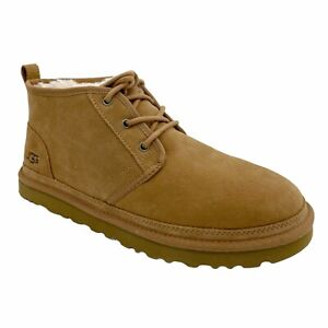 UGG NEUMEL CHESTNUT SUEDE SHEEPSKIN MEN'S LACE UP CHUKKA BOOTS US SIZE 12