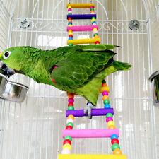 New listing Ladder Bridge Budgie Parrot Climbing Bite Toy Parakeet Swing Bird Toy Us Flowery