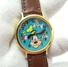 GOOFY Disney Time Works,Backwards Ear Hands Mens/Kids RARE CHARACTER WATCH 807