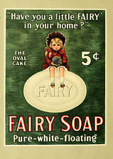 Vintage  Advertising poster  A4 Photo RE PRINT  Fairy Soap