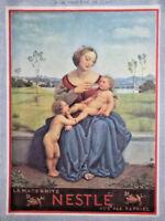 PUBLICITÉ 1935 NESTLÉ CHOCOLAT AU LAIT LES BONNES CHOSES DE FRANCE RECTO-VERSO