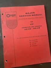 Onan Industrial Engine Uv Generator And Controls 300kw 600kw Service Manual Book
