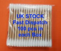 Bamboo Cotton Buds Eco Friendly Vegan Earbuds Organic Natural Wood Stick Swabs