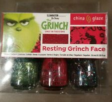 """Dr Seuss The Grinch """" Resting Grinch Face """" China Glaze Nail Lacquer Polish Kit"""