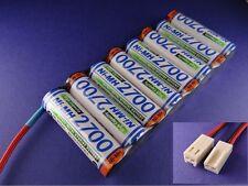 Senderakku Panasonic 2700 Flach für Robbe/Futaba Molex Stecker ( Früher Sanyo )