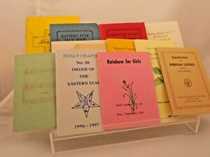 Vintage Order of the Eastern Star meeting booklets-Masons- (a)