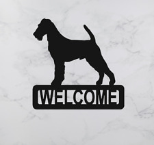 More details for irish terrier dog metal sign welcome laser cut