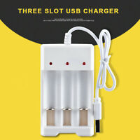 For AA/AAA Rechargeable Battery 3-slot Smart USB Charger Fast Charging Dock Case