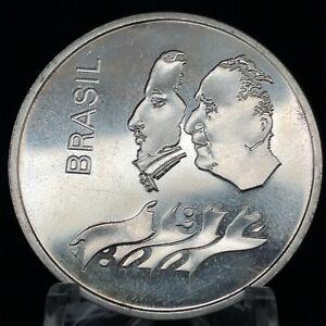 1972 BRAZIL .900 SILVER 20 CRUZEIROS 150th INDEPENDENCE ANNIVERSARY KM #583
