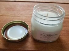 Vegan Candle Creamy Coconut and Sun Handpoured Luxurious Scent 8 oz Mason Jar