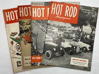 Hot Rod Magazine 1951 Lot of 4 - Original - February, March, October, December