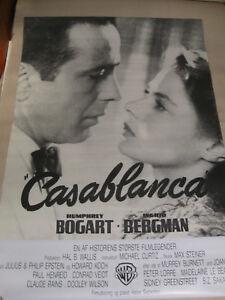 Casablanca - Filmplakat Poster - Dänemark - Übergröße - Bogart - Bergman (-)