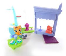 Littlest Pet Shop Pawristas Cafe Playset Parts Cat Raccoon Food Coffee Couch