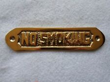 "Solid Brass ""No Smoking "" Door Sign~Nautical Boat Decor"