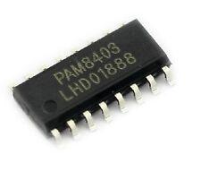 20pcs SMD PAM8403 3W * 2 Stereo filterless Class D Audio Amplifier SOP-16