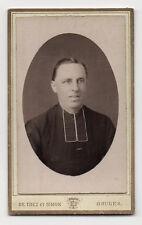 CDV - PHOTO - RELIGIEUX - CURÉ - ABBÉ - DE TREZ et SIMON - BRUGES - Vers 1900.