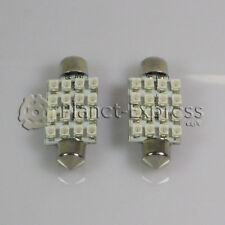 2 x Bombillas 16 LED SMD AZUL C5W Festoon 41mm Matricula, interior, lectura 42mm