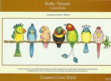 BOTHY THREADS EXOTIC BIRDS COUNTED CROSS STITCH KIT 38x16cm - NEW