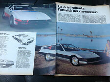 ARTICOLO carrozzieri ferrari 365 GTB/4 michelotti , lamborghini  -  1975 ( dd)