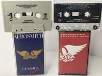 Lot 2x - AEROSMITH Cassette Tapes GREATEST HITS and CLASSICS LIVE Rock