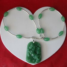 Superb Set With Jade Necklace Bracelet & Earrings In Gift Box