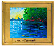 New ListingLake Trees Sky Natasha Petrosova Original Oil Painting Impressionism 278