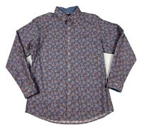 Daniel Cremieux Paisley Shirt Men's Size L Multi-color Blue Button Front LS New