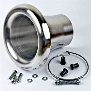 Revotec High Flow Bell Mouth Air Inlet Intake Trumpet Suits 51mm Hose Silver