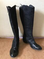 DONALD J PLINER Devi 4 Boot Zipper Western Inspired Riding Black Size 8 $398
