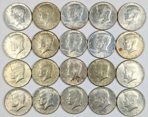Roll of 20 Kennedy Half Dollars 40% Silver 187271B