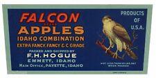 FALCON Brand, Emmett, Idaho, Bird, Apple *AN ORIGINAL FRUIT CRATE LABEL*