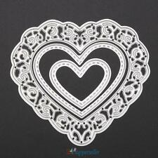 Heart  Metal Cutting Dies Stencils DIY Scrapbook Album Paper Card Craft Silver