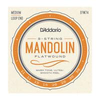 D'Addario EFW74 Flatwound Mandolin Strings Set Medium, 11-36