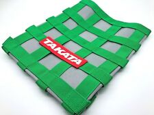 JDM TAKATA STYLE 34CM X 34CM GREEN RACING WINDOW SAFETY NET DECOR SUNSHADE