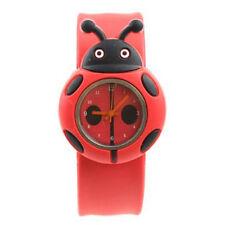 Child Boy Girl Ladybug Adorable Cartoon Silicone Watch - Color: Red LW