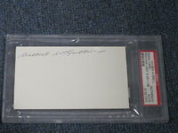 Wilbert Hubbell  Autographed 3x5 Index Card PSA Certified Encapsulated