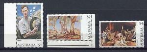 40079) Australia 1974 MNH Paintings Def. $1, $2, $4 Pva