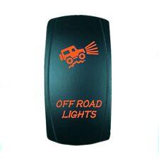 CAN AM MAVERICK COMMANDER BACKLIT BOAT ROCKER SWITCH LED OFFROAD LIGHTS ORANGE